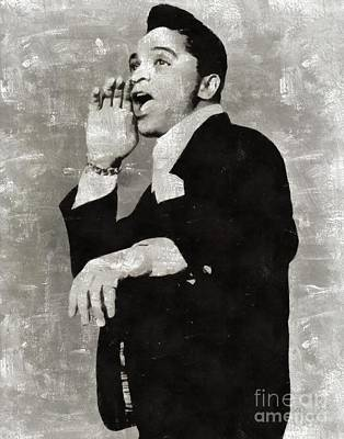 Music Paintings - Jackie Wilson, Music Legend by Esoterica Art Agency