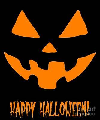Digital Art - Jackolantern Happy Halloween Pumpkin by Flippin Sweet Gear