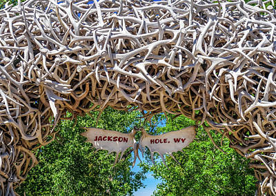 Photograph - Jackson Hole Wy Sign by Dan Sproul