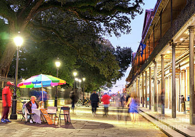 Photograph - Jackson Square Colors At Night New Orleans by John Rizzuto