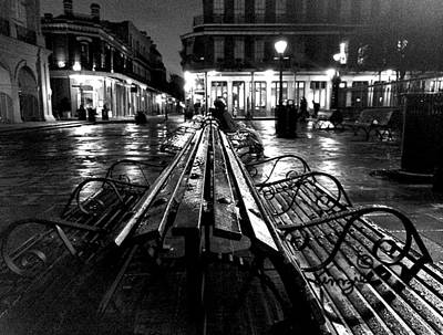 Art Print featuring the photograph Jackson Square In The Rain by Amzie Adams