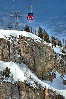 Photograph - Jackson Tram Over The Cliff by Adam Jewell