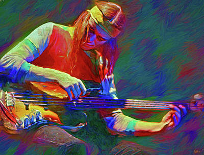 Jazz Mixed Media Royalty Free Images - Jaco Pastorius Royalty-Free Image by Mal Bray