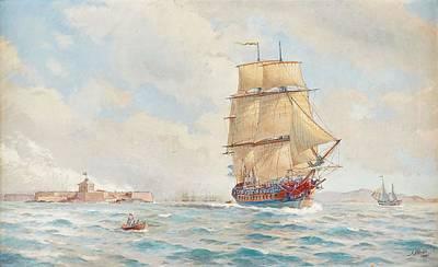 Painting - Jacob Hagg, Sail Away by Jacob Hagg