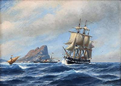 Painting - Jacob Hagg, Ships by Jacob Hagg