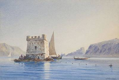 Painting - Jacob Hagg, Watercolour, Signed J Hagg And Dated 1878. by Jacob Hagg