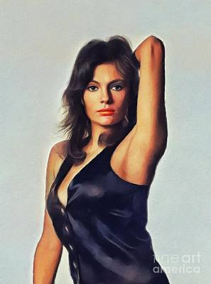 Comedian Drawings - Jacqueline Bisset, Actress by Esoterica Art Agency