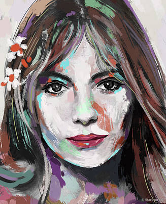 Whimsical Flowers - Jacqueline Bisset by Stars on Art