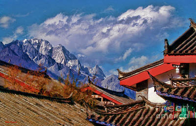 Photograph - Jade Dragon Snow Mountain Over Shuhe Ancient Town by Blake Richards
