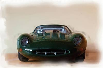 Digital Art - Jaguar Xj13 by JLowPhotos
