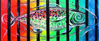 Painting - Jail Fish #135826 by J Vincent Scarpace