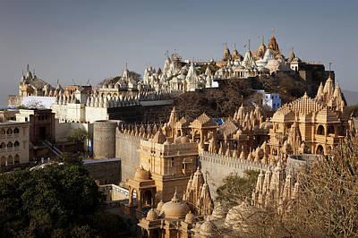 Jainism Wall Art - Photograph - Jain Temples Of Mount Shatrunjaya In by Marji Lang