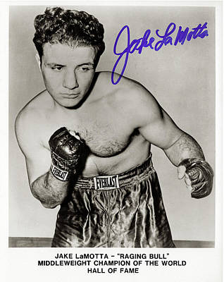 Photograph - Jake Lamotta Bronx Bull - Signed by Doc Braham