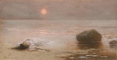 Painting - Jakub Schikaneder   Drowned  1893  by Celestial Images