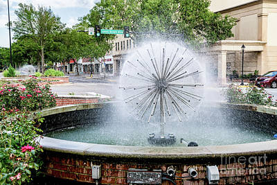 Photograph - James Brown Blvd Fountain - Augusta Ga by Sanjeev Singhal