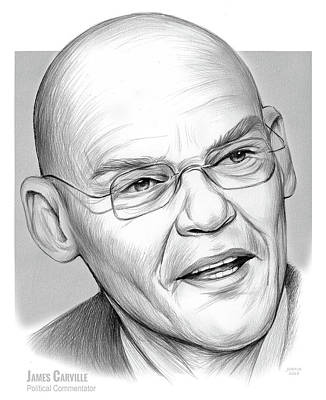Drawings Royalty Free Images - James Carville Royalty-Free Image by Greg Joens
