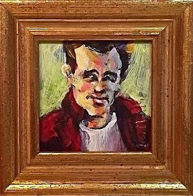 Painting - James Dean by Les Leffingwell