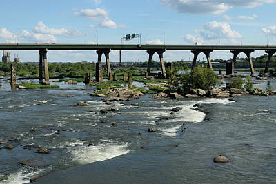 Photograph - James River Rapids by Karen Harrison