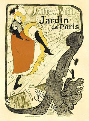 Painting - Jane Avril Jardin De Paris Vintage French Advertising by Vintage French Advertising