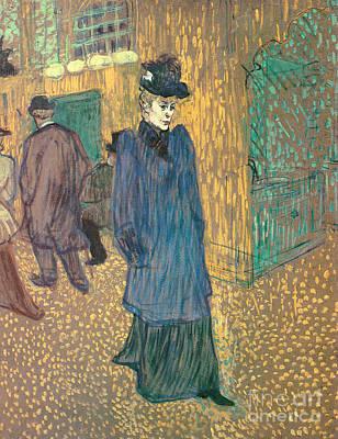 Painting - Jane Avril Leaving The Moulin Rouge, 1892 by Henri de Toulouse-Lautrec