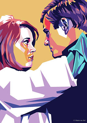 Target Threshold Painterly - Jane Fonda and Robert Redford by Stars on Art