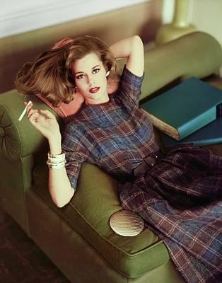 Photograph - Jane Fonda Wearing David Crystal by Horst P. Horst