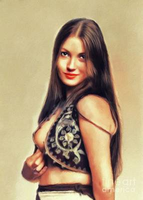 Vintage Movie Stars - Jane Seymour, Actress by Esoterica Art Agency