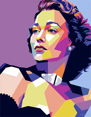 Royalty-Free and Rights-Managed Images - Jane Wyman by Stars on Art