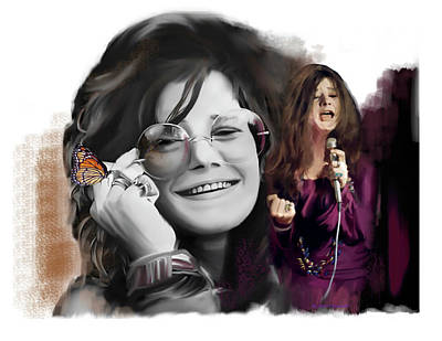 Painting - Janis Joplin Chrysalis  by Iconic Images Art Gallery David Pucciarelli