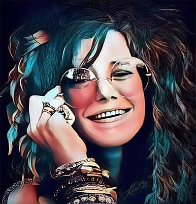 Digital Art - Janis The Rose by Karen Showell
