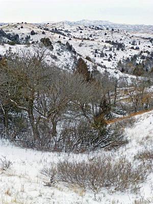 Photograph - January Badlands by Cris Fulton