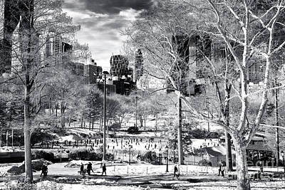 Photograph - January In Central Park New York City by John Rizzuto
