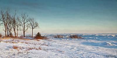 January Shoreline On Erie Original