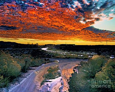 Photograph - January Sunset by Charles Muhle