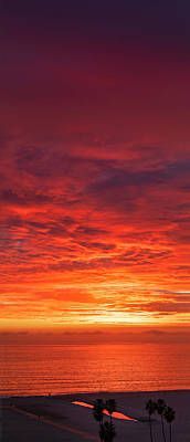 Photograph - January Sunset - Vertirama 2 by Gene Parks