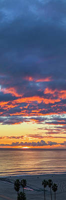 Photograph - January Sunset - Vertirama 3 by Gene Parks