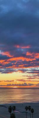 Photograph - January Sunset - Vertirama 3 by Gene Parks