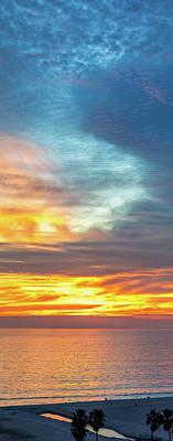 Photograph - January Sunset - Vertirama by Gene Parks