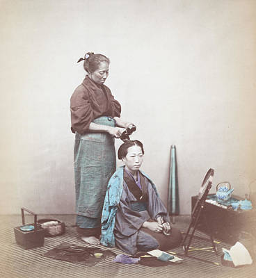 Photograph - Japanese Beauty by Felice Beato