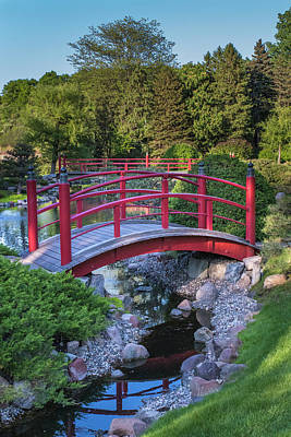 Photograph - Japanese Garden #1 - Red Bridges by Patti Deters