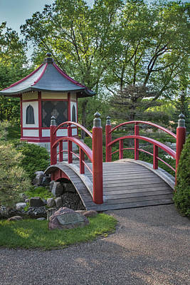 Photograph - Japanese Garden #3 - Red Bridge And Pagoda by Patti Deters