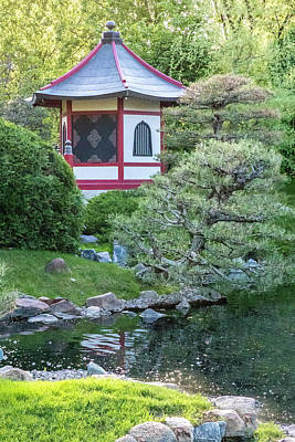 Photograph - Japanese Garden #6 - Pagoda Vertical by Patti Deters