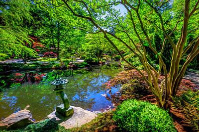 Photograph - Japanese Garden At Gibbs by Debra and Dave Vanderlaan
