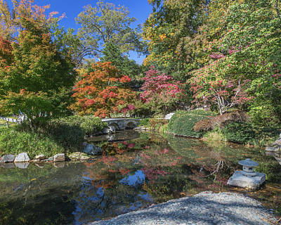 Photograph - Japanese Garden Bridge Maymont by Jemmy Archer