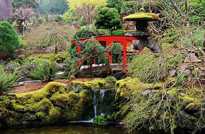 Photograph - Japanese Garden In Spring, Butchart by Miles Ertman