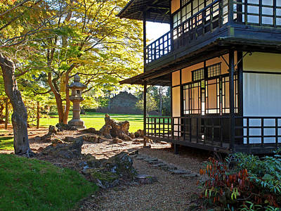Photograph - Japanese Garden Tea House by Gill Billington
