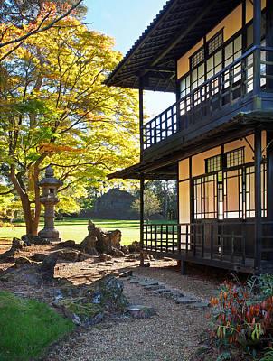 Photograph - Japanese Garden Tea House Vertical by Gill Billington