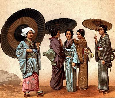 Digital Art - Japanese Ladies by Hulton Archive