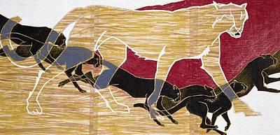 Puma Wall Art - Painting - Japanese Modern Interior Art #105 by ArtMarketJapan