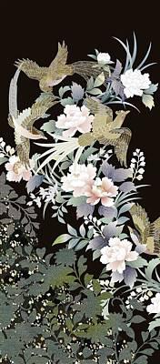 Chrysanthemum Wall Art - Painting - Japanese Modern Interior Art #147 by ArtMarketJapan